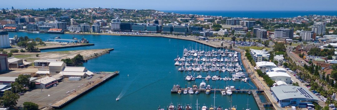 Newcastle Marina drone photo